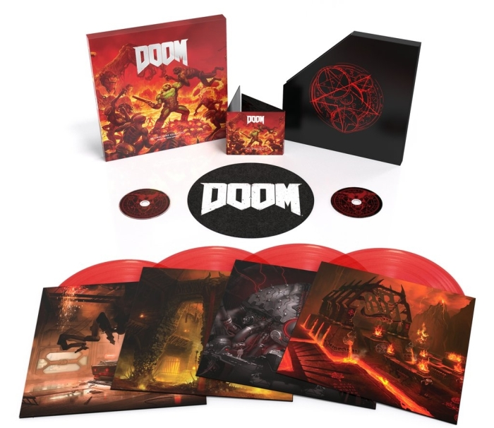 Doom Special Edition X4 Vinyl Boxset Splipmat Double CD Bundle